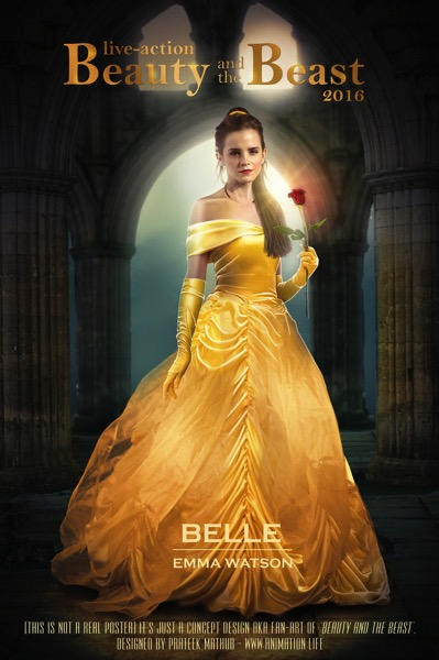 Mobile emma watson as belle in beauty and the beast by visual3deffect d8ho0at